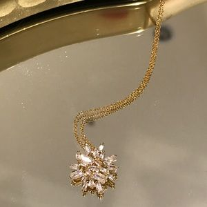 Gorjana Amara Cluster Necklace in White